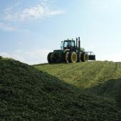 tractor on silage