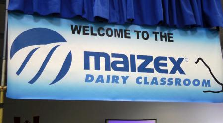 Maizex Dairy Classroom sign at CDX