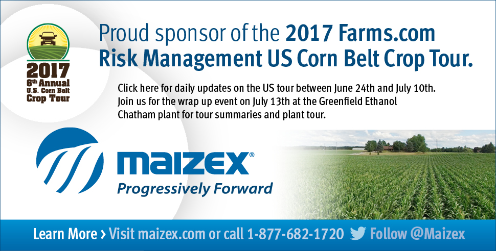 Maizex is a sponsor for the 2017 US Corn Belt Crop Tour